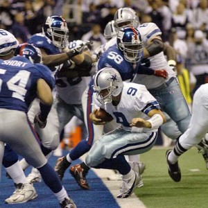 El QB de los Dallas Cowboys, Tony Romo