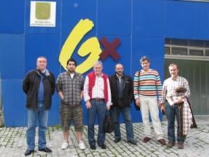 El Comité Organizador del I Encuentro de Bloggers de Getxo y Alrededores. Foto sacada de http://blog.agirregabiria.net