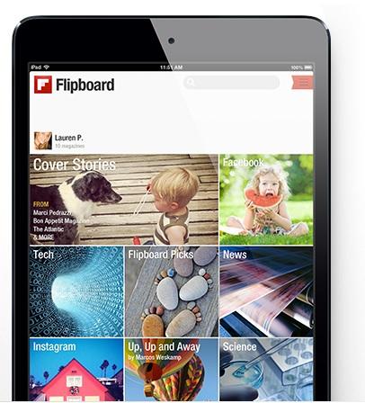 Aplicación de Flipboard.