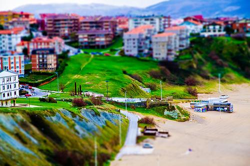 Vista de la playa de Arrigunaga y sus alrededores.