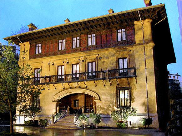 Fachada del Palacio Ibaigane, la sede institucional del Athletic Club.