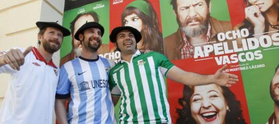 Los actores andaluces de 'Ocho apellidos vascos' de promoción.
