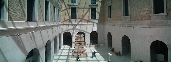 Panorámica de uno de los patios. Está dedicado a la protohistoria.