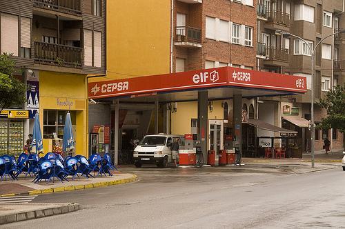 Gasolinera de Infiesto (Asturias). / Fuente: Memorias & Anticipación.