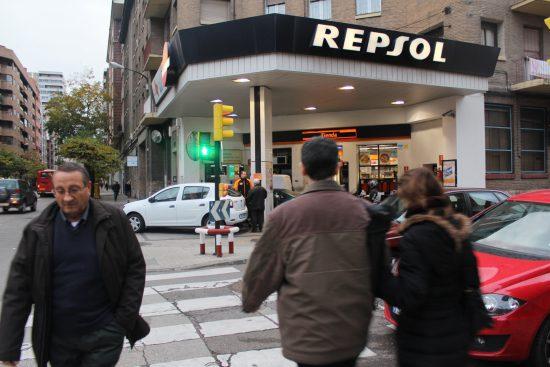 Gasolinera urbana de Zaragoza